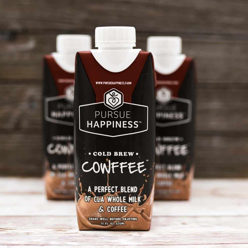 pursue happiness cold brew cowffee