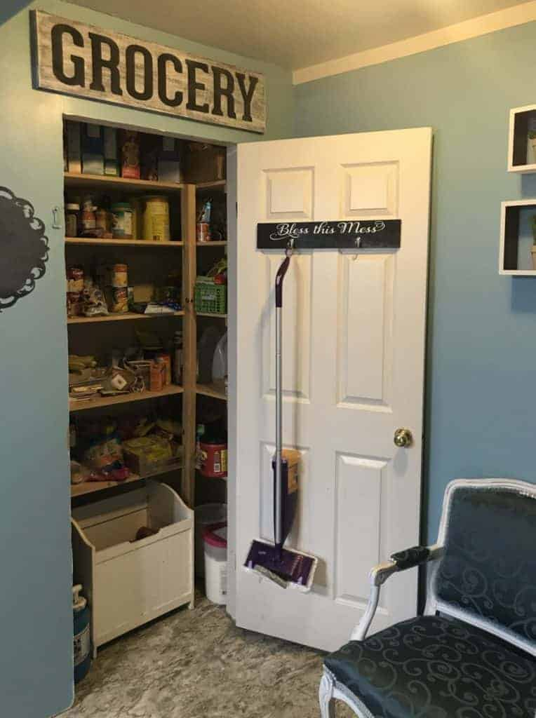 completed kitchen pantry DIY tutorial