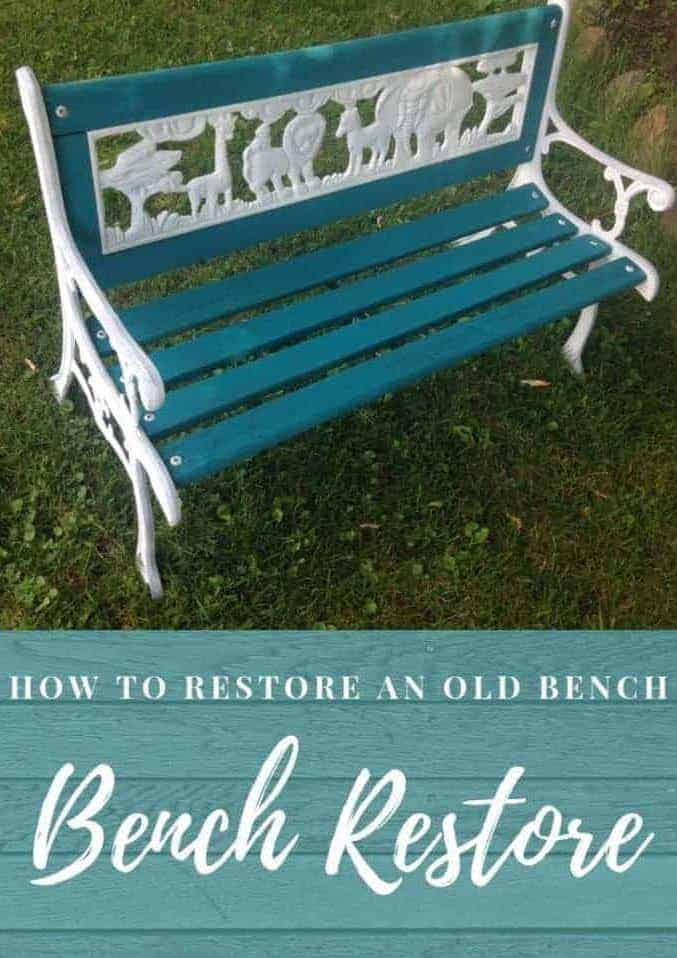 how to restore an old bench