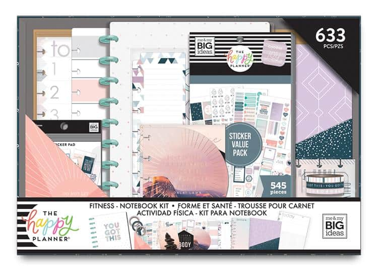 The Happy Planner fitness notebook kit
