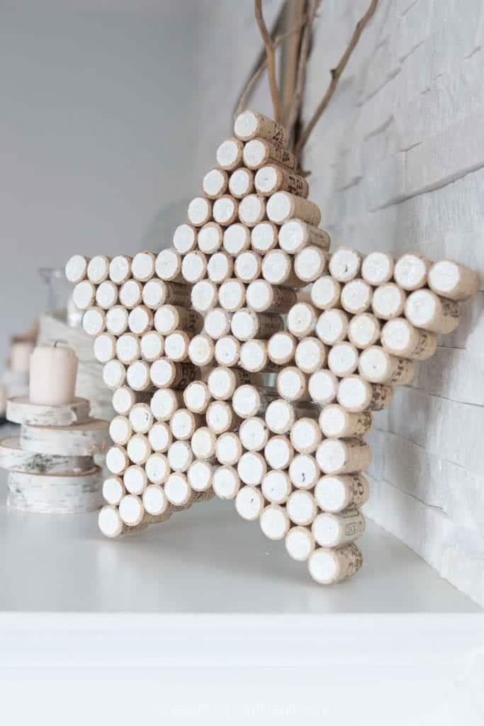 DIY decorative star and Christmas tree upcycled from wine bottle corks SustainMyCraftHabit 9443 683x1024 1 - Amanda Seghetti