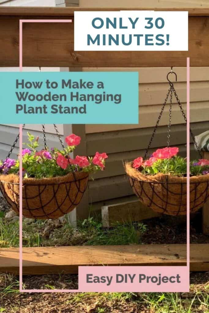 How To Make A Beautiful Wooden Hanging Plant Stand In 30 Minutes Amanda Seghetti
