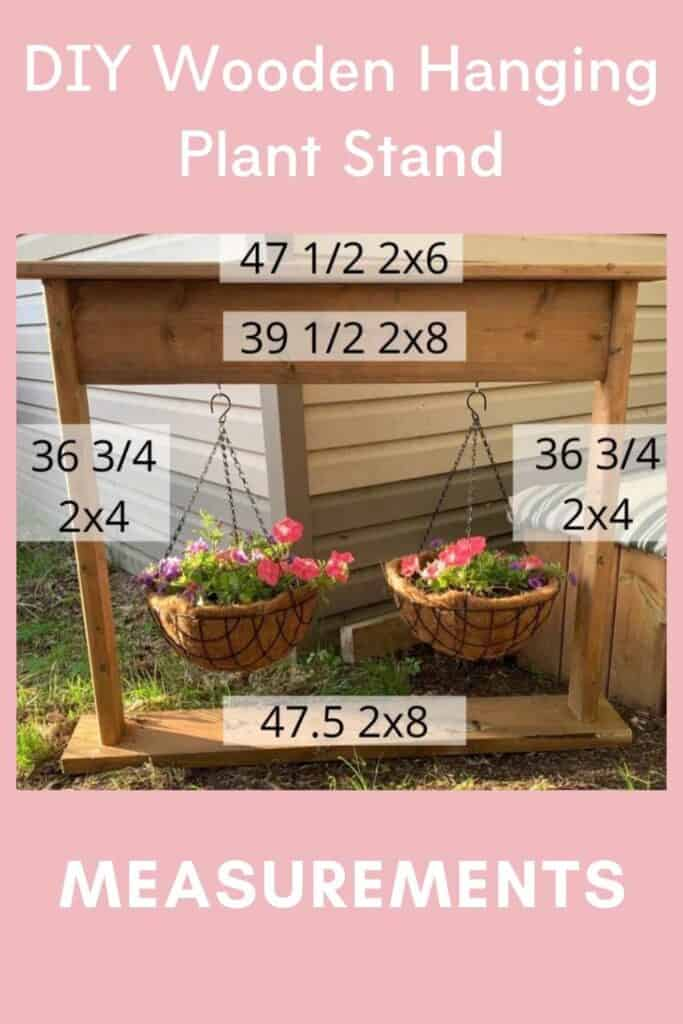 How to Make a Wooden Hanging Plant Stand measurements