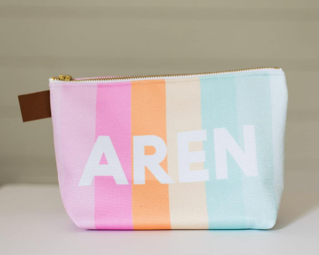Rainbow cosmetic bag
