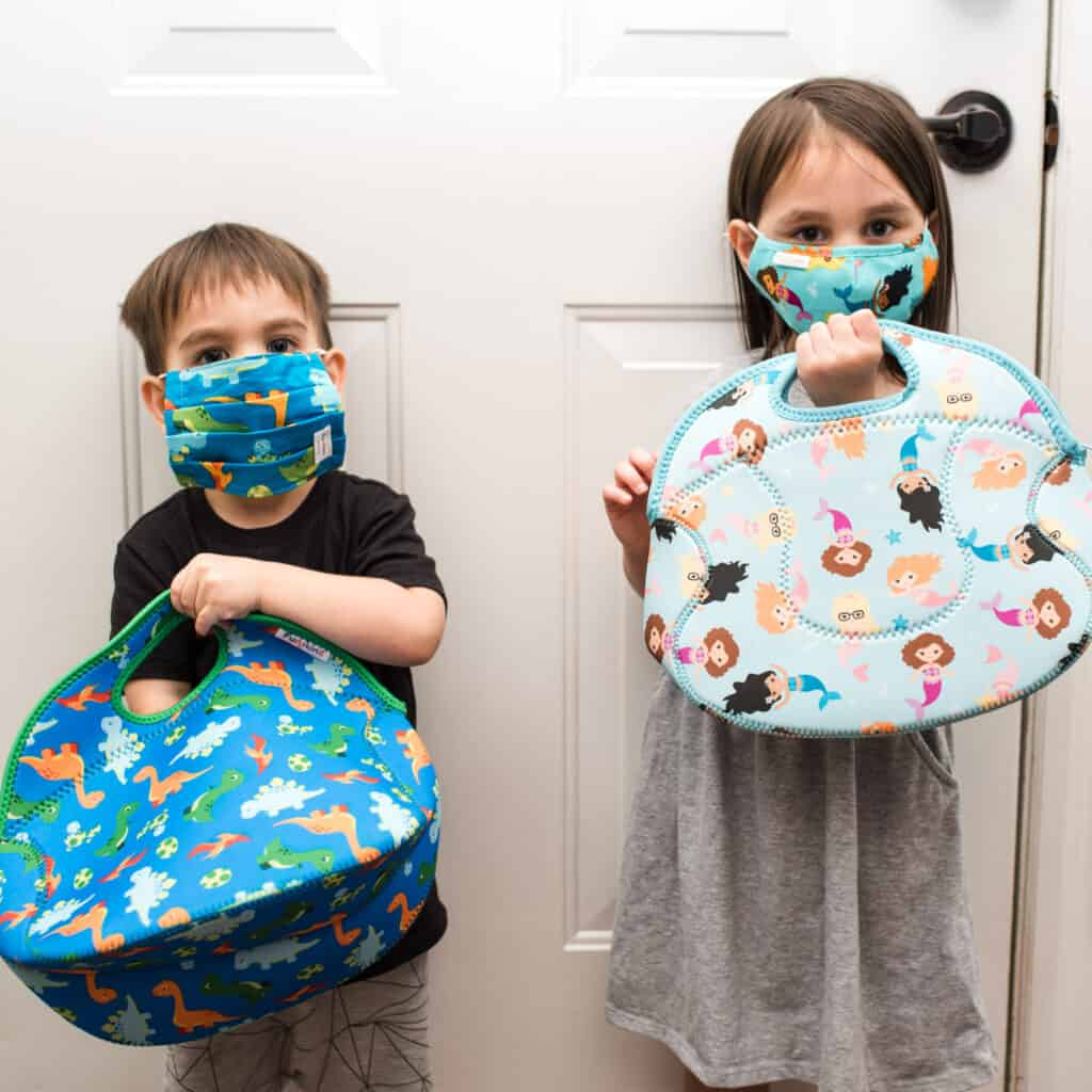 Reusable lunch bags and masks from Funkins