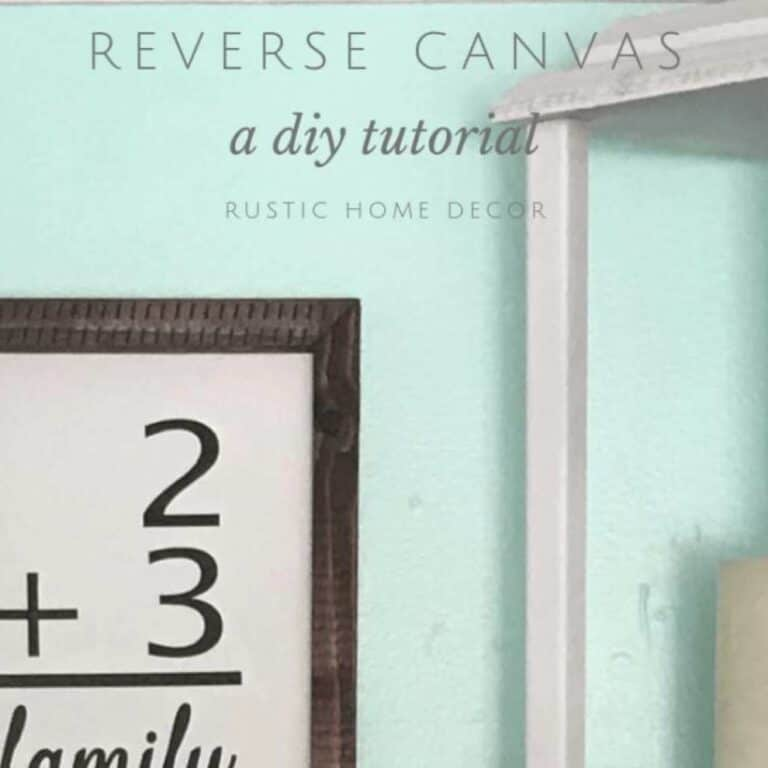 How to Make a Reverse Canvas | Easy DIY Tutorial