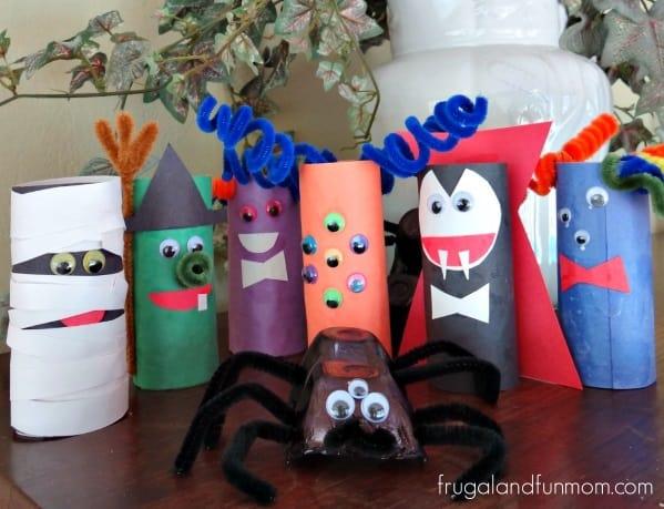 TP cardboard tube monsters