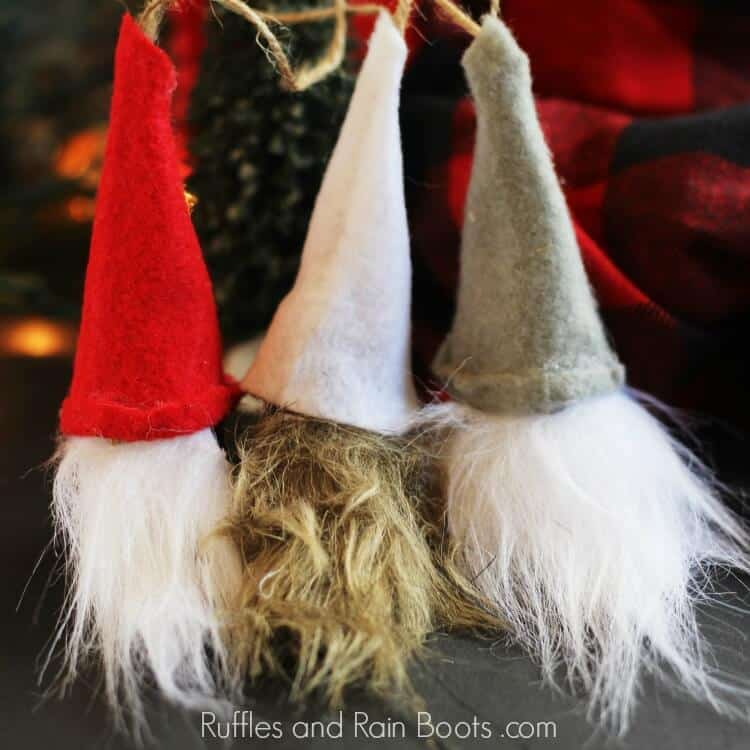 Swedish Christmas Gnomes made from wine corks.