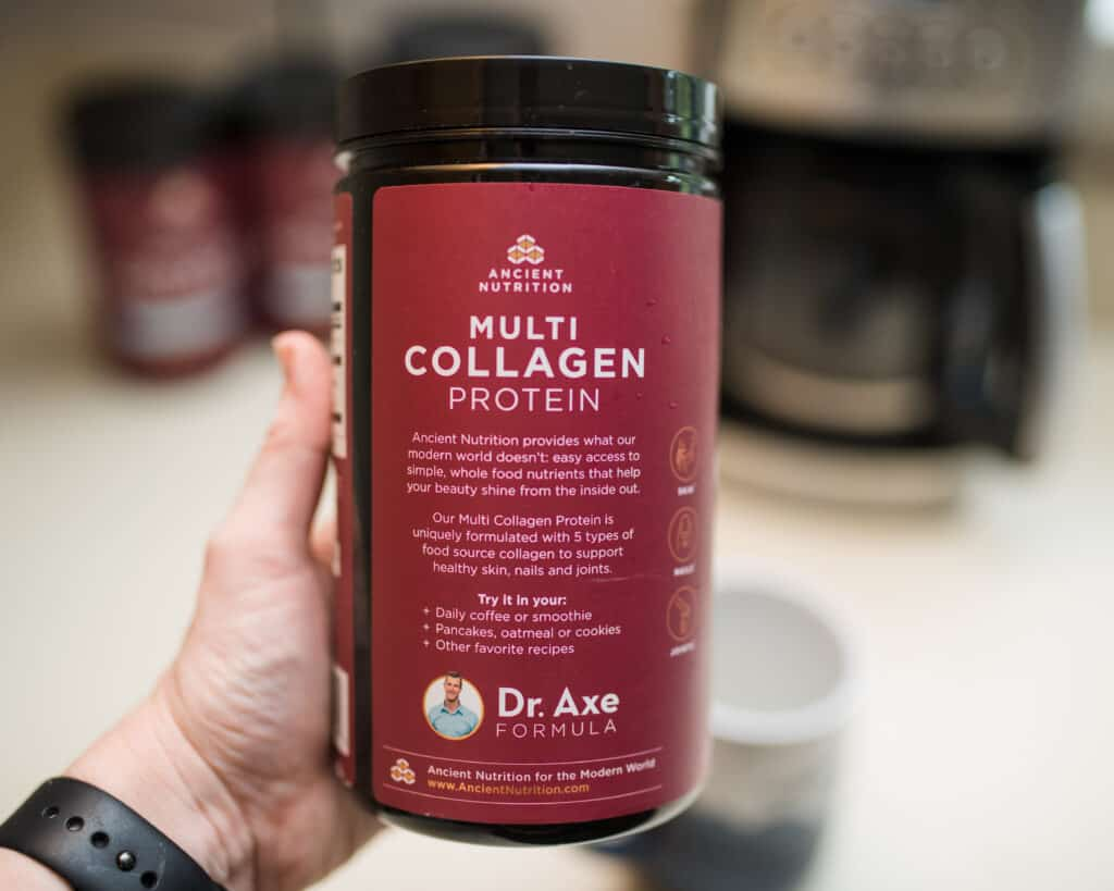 back label of ancient nutrition multi collagen protein