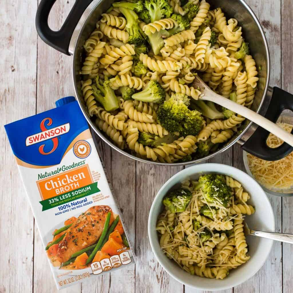 easy cheesy broccoli and pasta