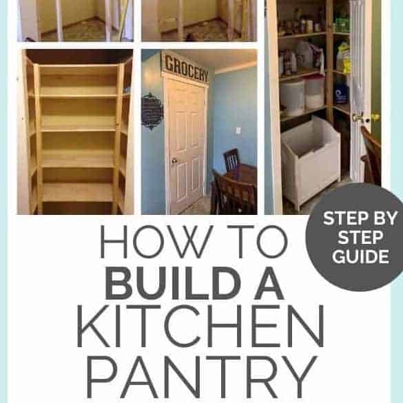 How to Build a Kitchen Pantry & Shelves | DIY Tutorial