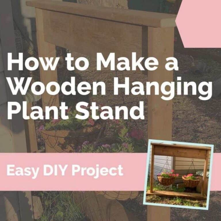 How to Make A Beautiful Wooden Hanging Plant Stand In 30 Minutes!