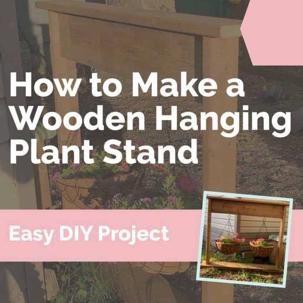 how to make a wooden hanging plant stand