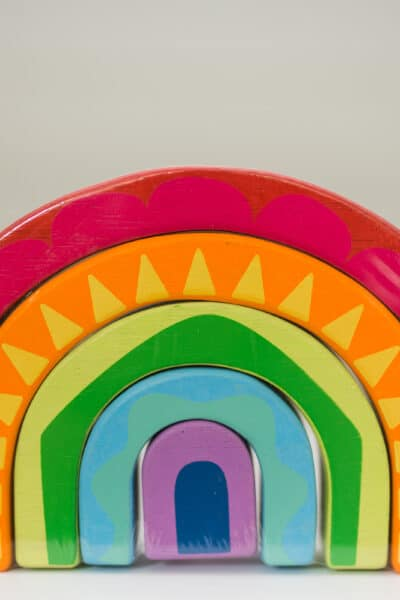 rainbow tunnel toy from le toy van