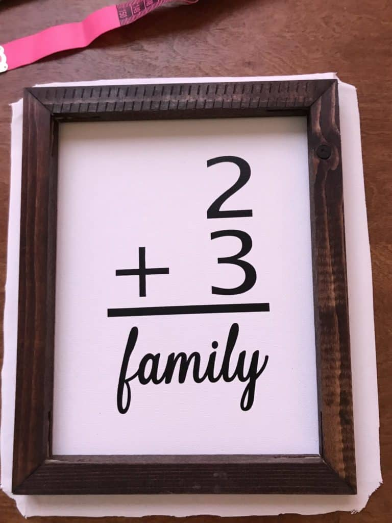 reverse canvas family sign