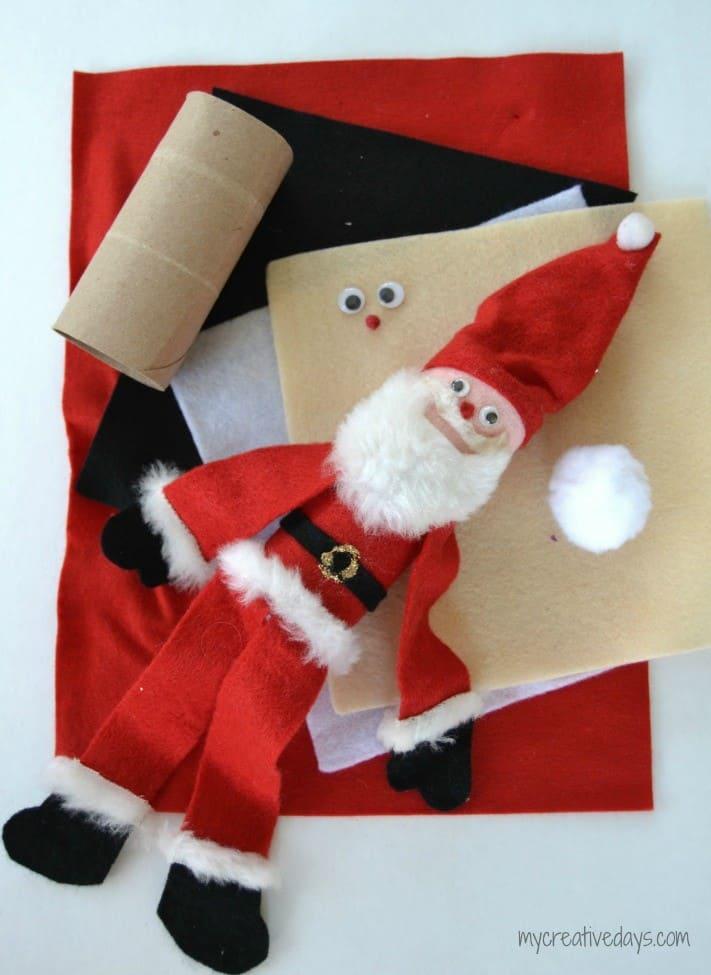 toilet paper roll santa ornament