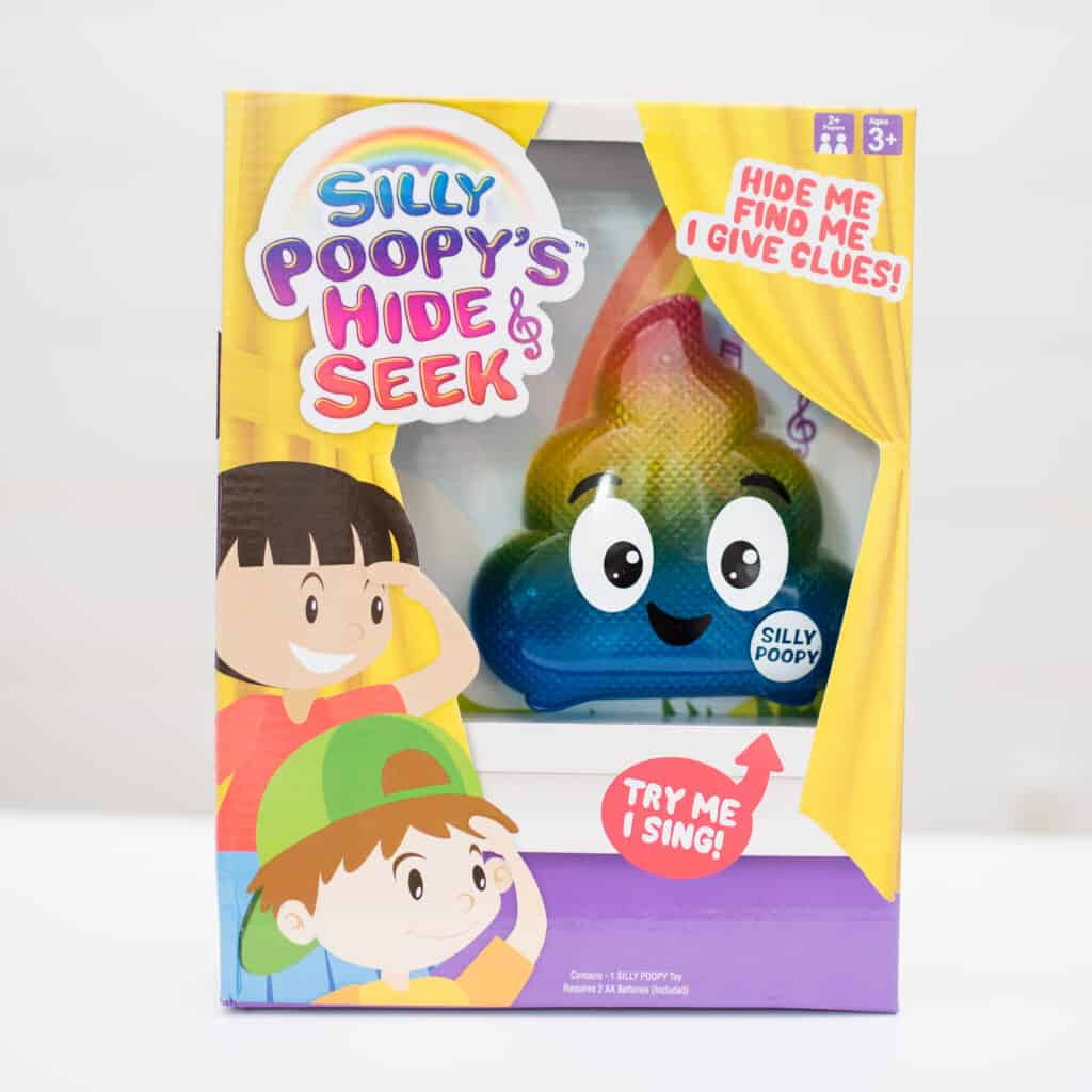 silly poopys hide and seek rainbow toy