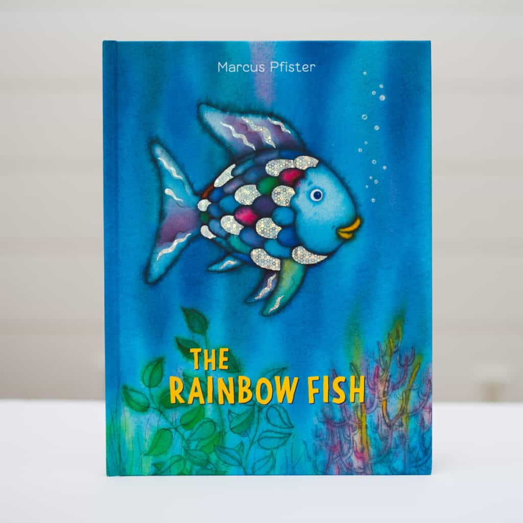 the rainbow fish book makes a great rainbow gift for kids