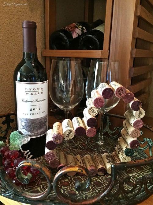 Wine Cork Heart Decor