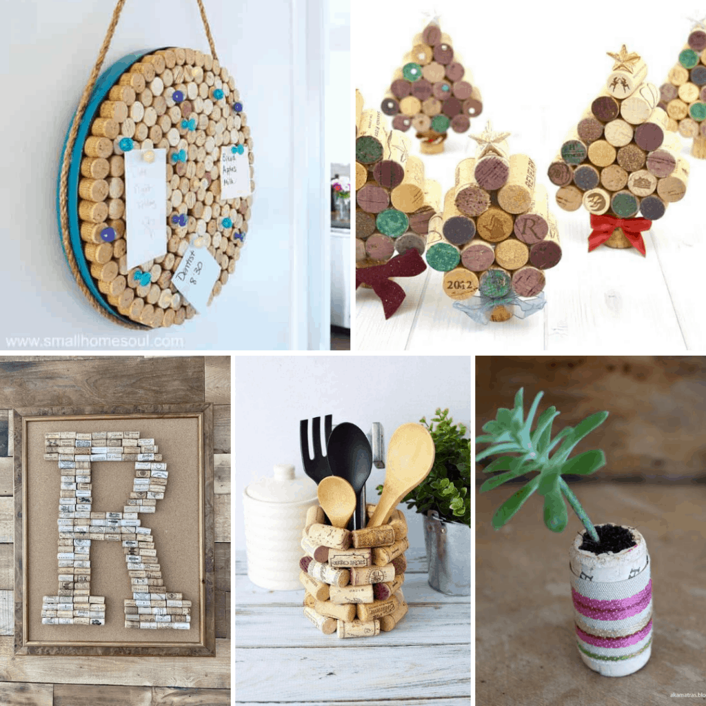 DIY wine cork crafts SQUARE