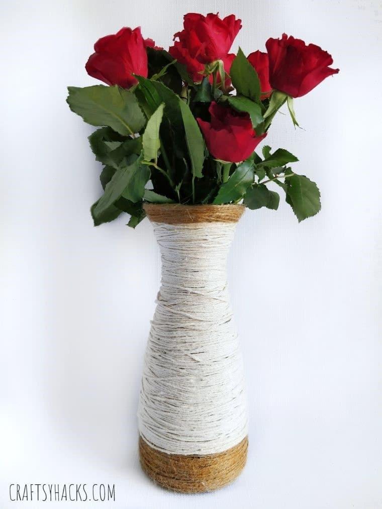 1 Yarn Wrapped DIY Glass Vase - Amanda Seghetti