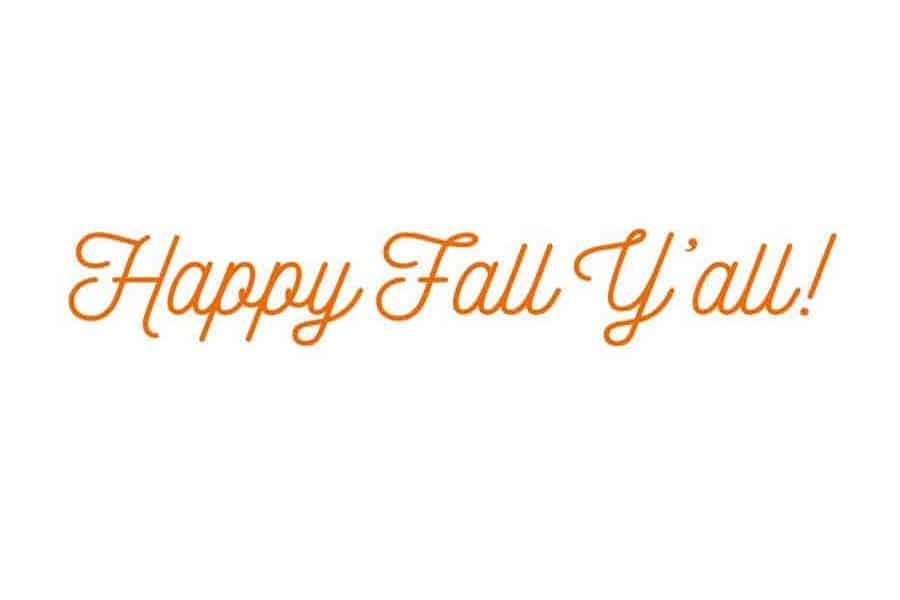 happy fall y'all popular fall quote and SVG