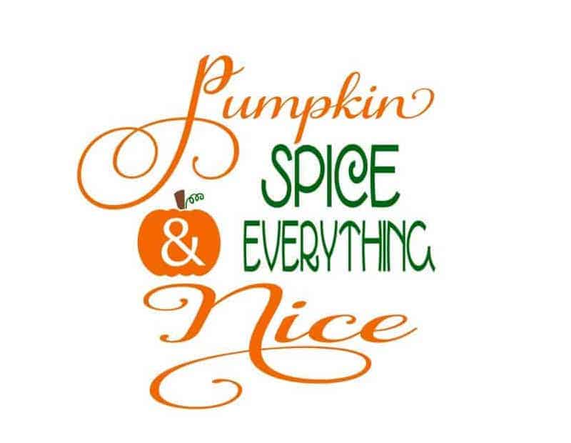 pumpkin spice and everything nice fall quote