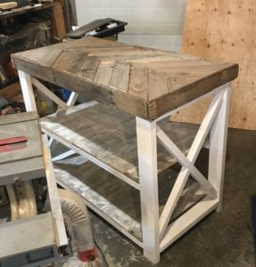 farmhouse style laundry table