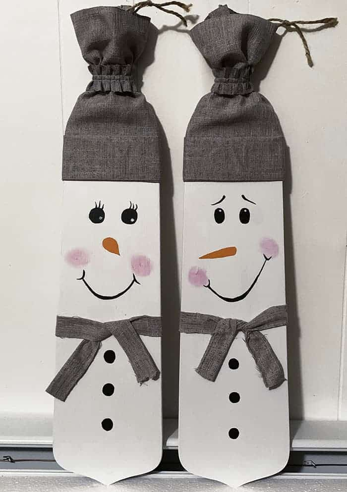 Christmas DIY decor snowman couple - Amanda Seghetti