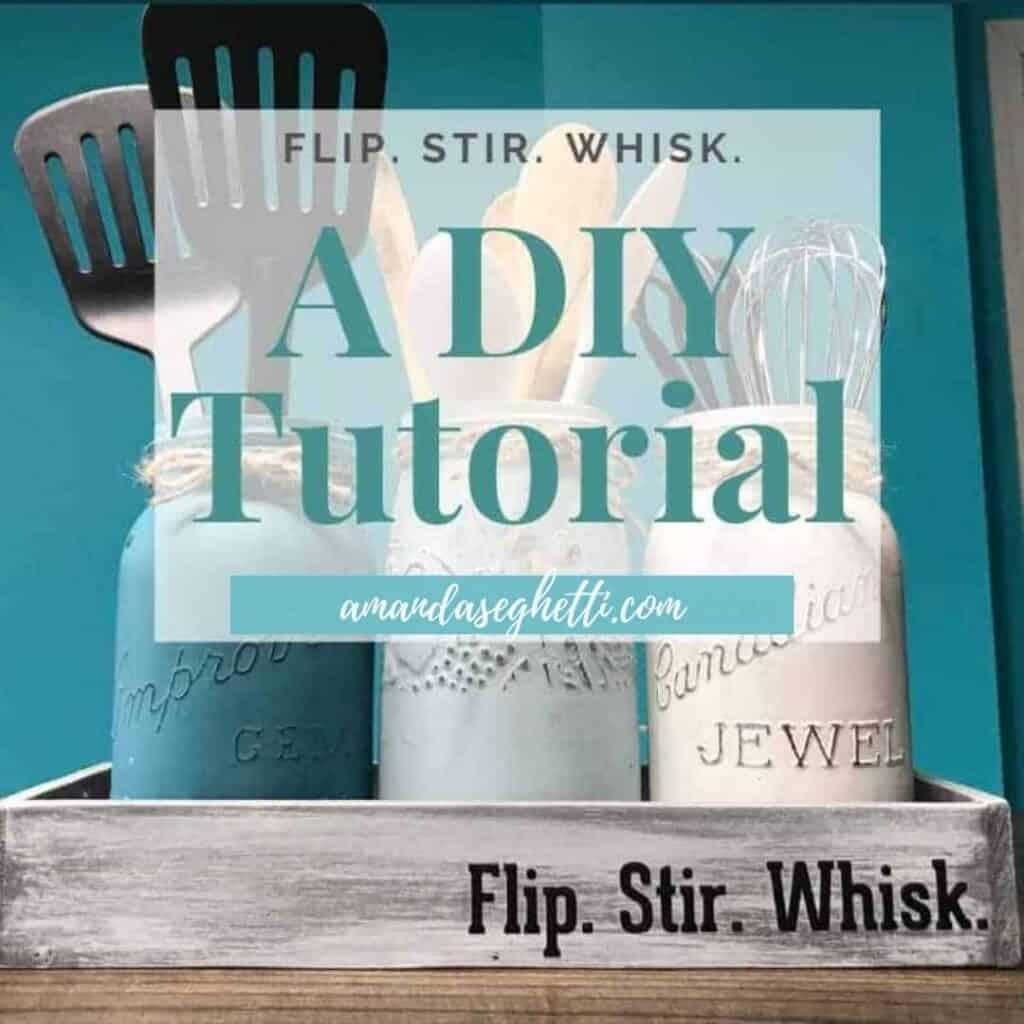 DIY flip stir whisk