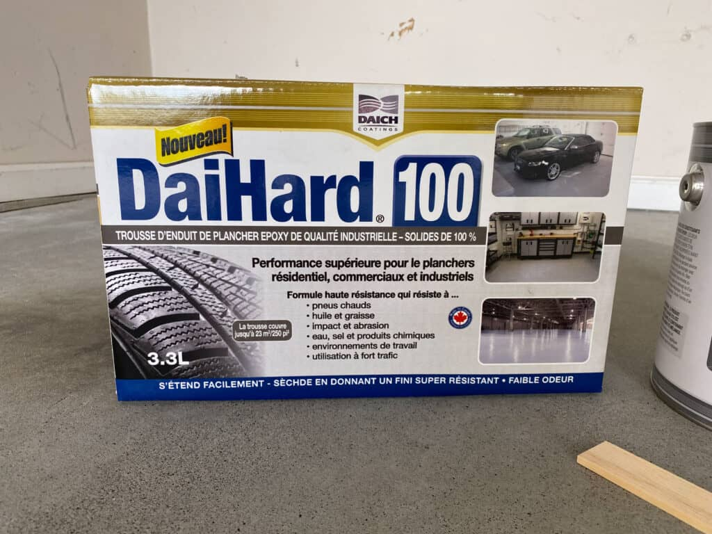 DaiHard garage paint epoxy kit