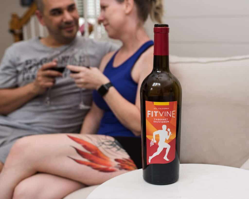 FitVine Wine closeup