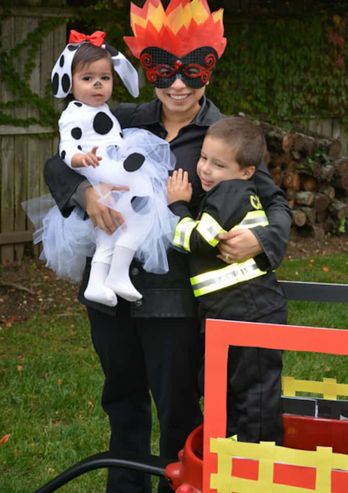 How to Prep Firefighter Themed Halloween Costume for the Family - Amanda Seghetti