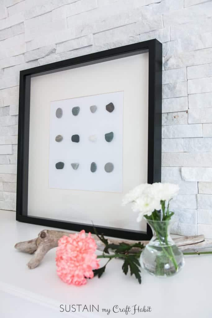 Simple DIY wall art with beach stones 0462 683x1024 1 - Amanda Seghetti
