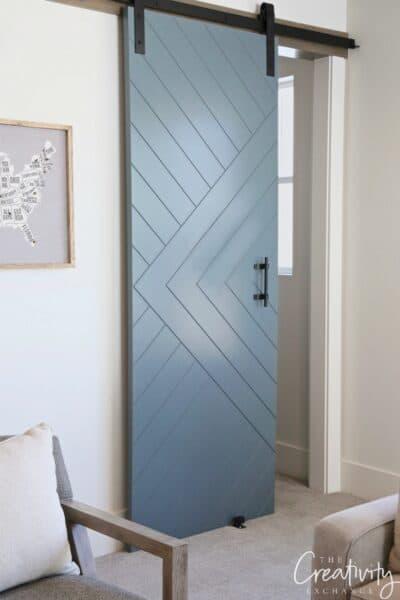 Slate blue barn door - thecreativityexchange