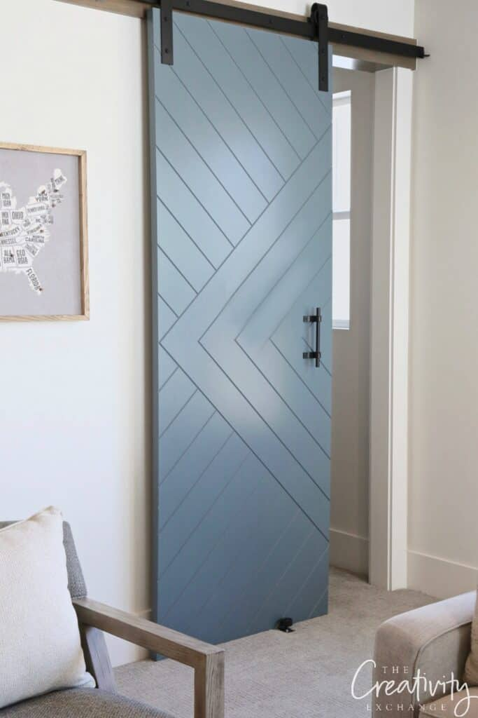 Slate blue barn door - thecreativityexchange