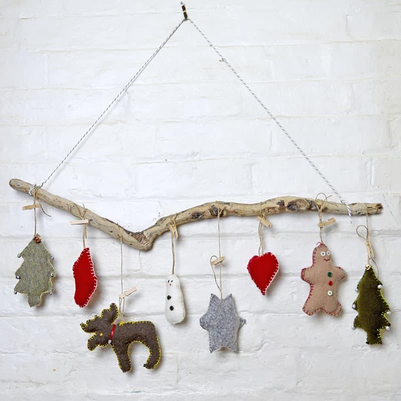 Sweater upcycled christmas ornaments s - Amanda Seghetti