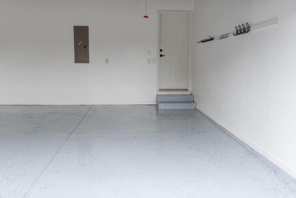 after painting garage floor