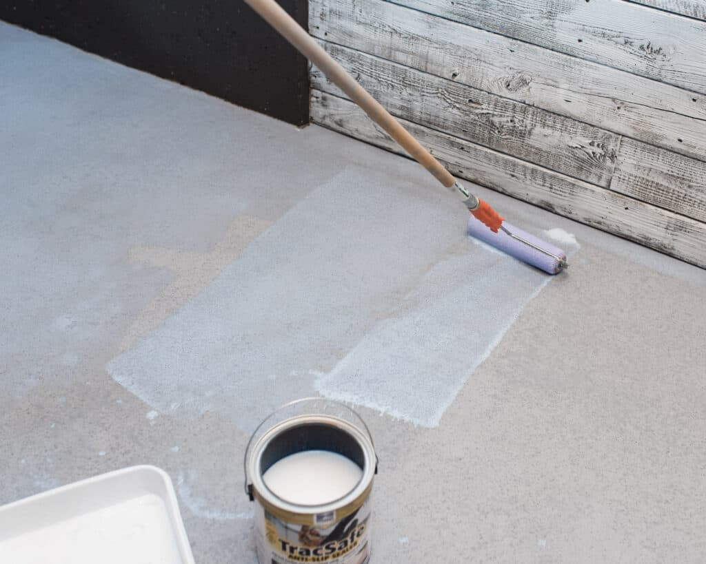 applying TracSafe sealer