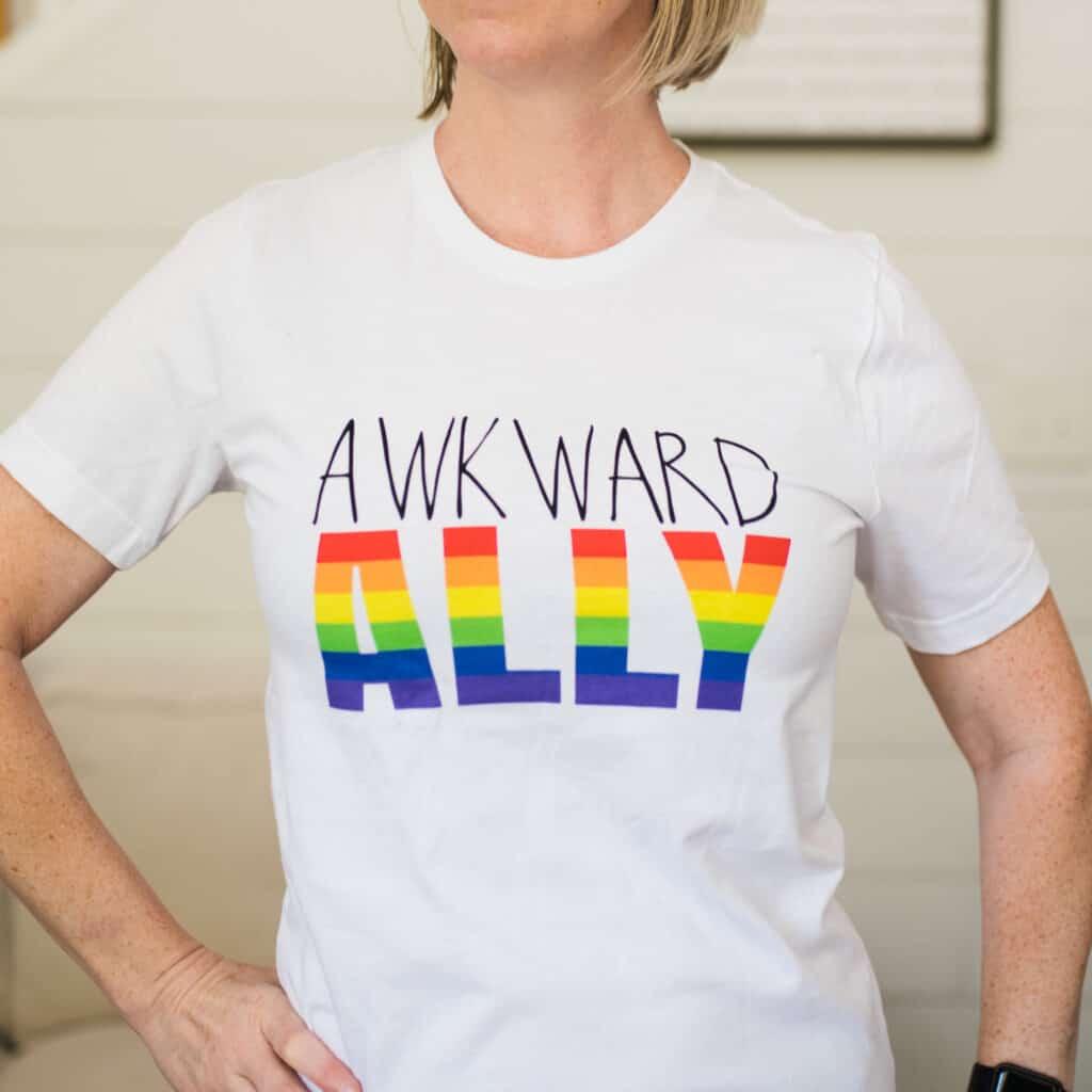 awkward ally tshirt