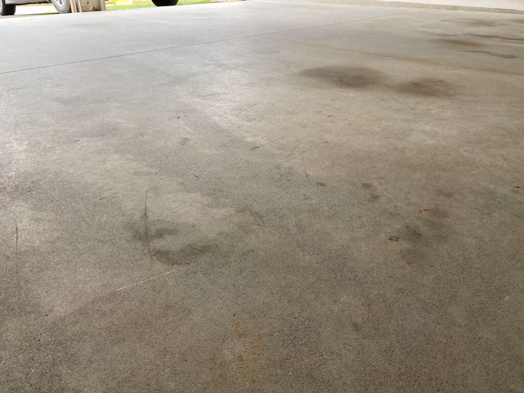 before etching after cleaning and pressure washing