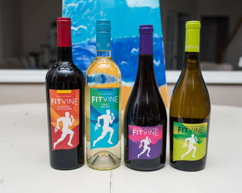 bottles of fitvine wine