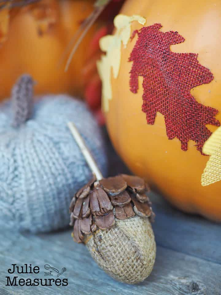 burlap pinecone easter egg acorn - Amanda Seghetti
