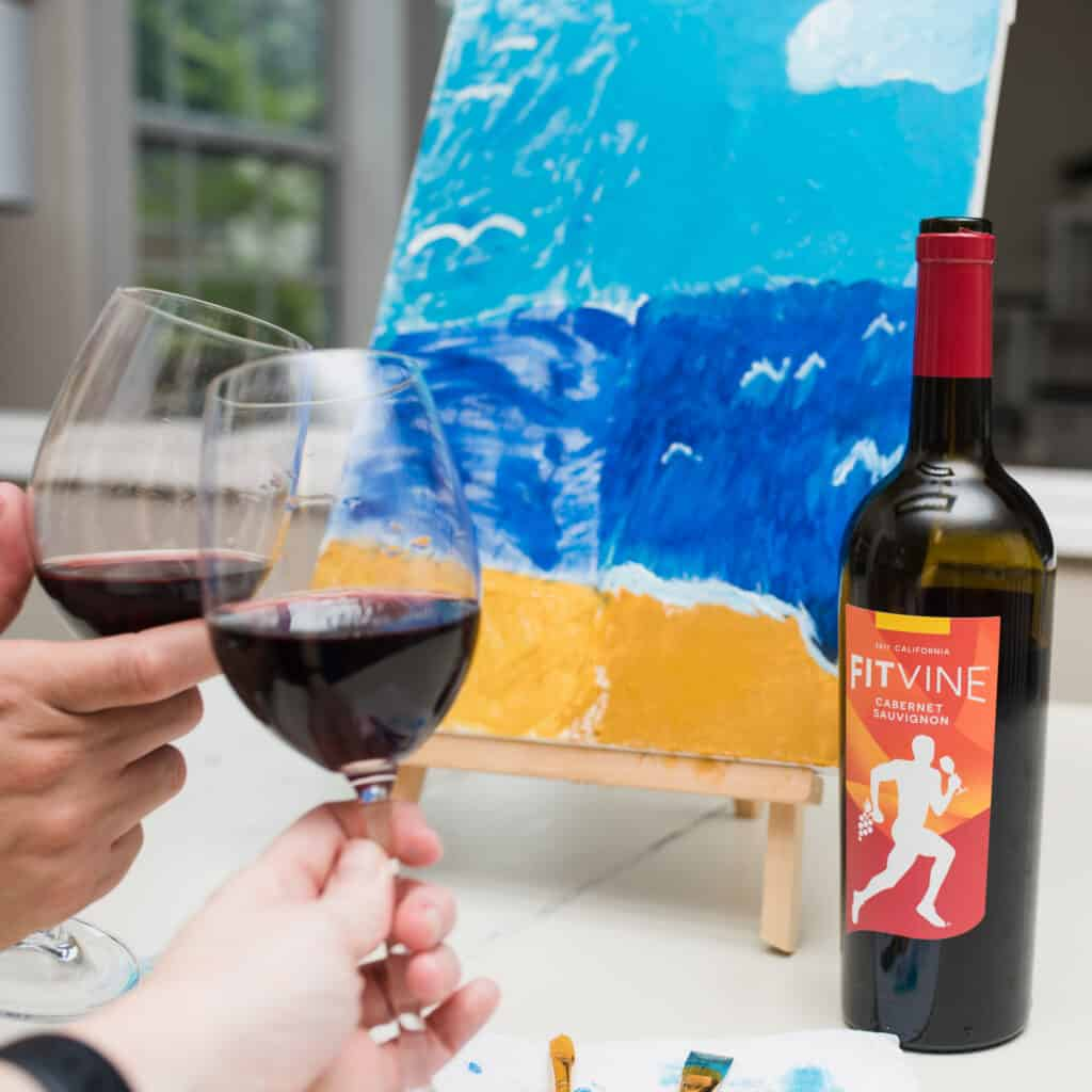cheers with fitvine wine