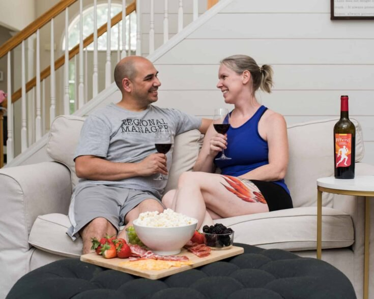 date night at home on couch - Amanda Seghetti