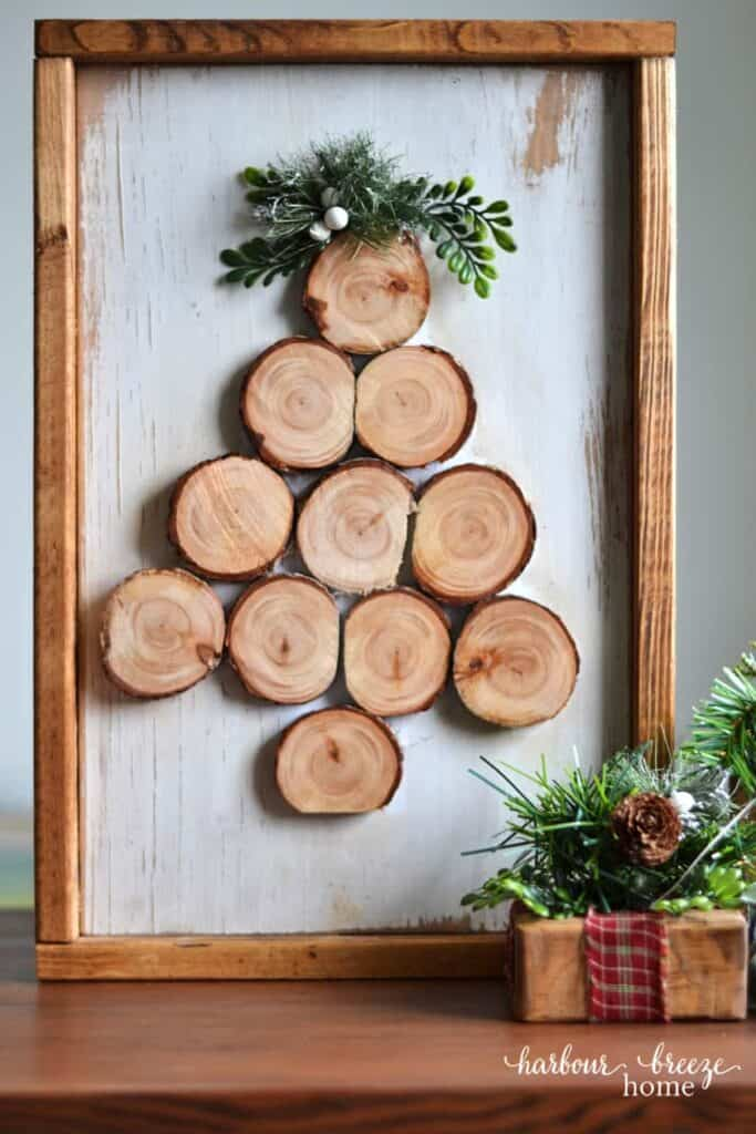 diy wood slice tree ps - Amanda Seghetti