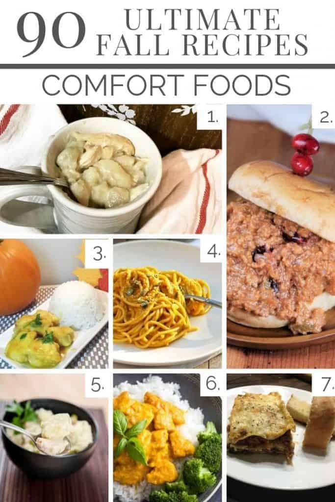 fall comfort foods