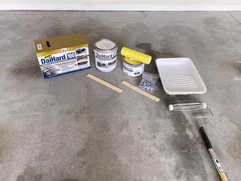 how to paint your garage floor materials needed