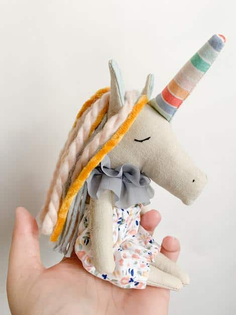 london twig unicorn doll