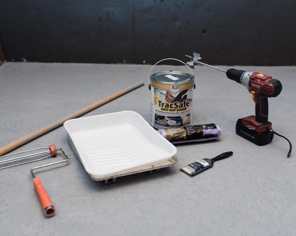 materials needed for TracSafe sealer